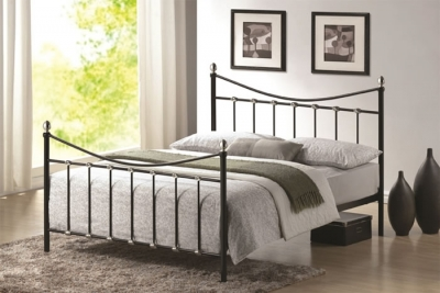 Time Living Oban Black Metal Bed Frame