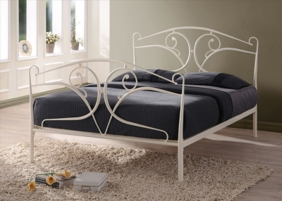 Time Living Seline Ivory Metal Bed Frame