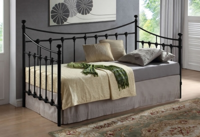 Time Living Florida Black Metal Day Bed Frame