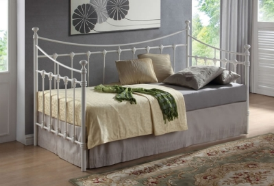 Time Living Florida Ivory Metal Day Bed Frame