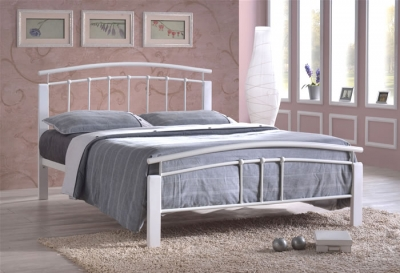 Time Living Tetras White Metal Bed Frame