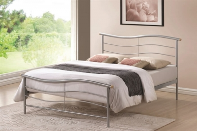 Time Living Waverley Silver Metal Bed Frame