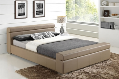 Time Living Durham Stone Faux Leather Bed