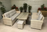 Amy 3 Seater Sofa Garden Dining Set