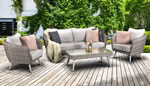 Signature Weave Danielle 5 Seat Sofa Grey Wicker Garden Set