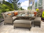 Signature Weave Diana Corner Sofa 2 Bench Garden Dining Set
