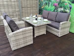 Signature Weave Grace Caramel 3 Seater Sofa Garden Dining Set