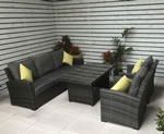 Signature Weave Grace Grey 3 Seater Sofa Garden Dining Set