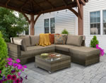 Signature Weave Savannah Brown Corner Sofa Garden Furniture Set