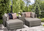 Signature Weave Harper Grey Weave Stackable Garden Sofa Set