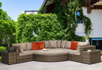 Signature Weave Jessica Brown Corner Garden Sofa Set