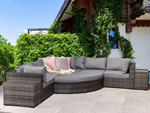 Signature Weave Jessica Grey Corner Garden Sofa Set