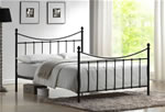 Time Living Alderley Black Metal Bed Frame