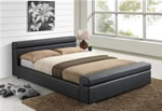 Time Living Durham Black Faux Leather Bed