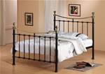 Time Living Elizabeth Black Metal Bed Frame