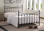 Time Living Florida Black Metal Bed Frame