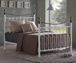Time Living Elizabeth White Metal Bed Frame
