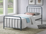 Time Living Miami Grey Metal Bed Frame